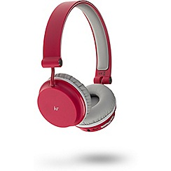 KitSound - Red 'Metro' over ear wireless bluetooth headphones KSMERD