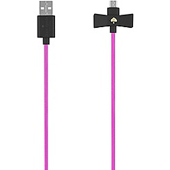 Kate Spade - Black new york Bow Lightning Charge/Sync Cable KSPW-223-BLKVS