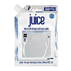 Juice - White data micro USB JUICEMICROUSBDATAWHT
