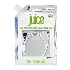 Juice - White IP5 Data lightning cable JUICEIP5DATAW