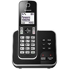 Panasonic - Digital cordless telephone single answerphone KX-TGD320EB