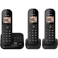 Panasonic - Digital cordless telephone triple answerphone KX-TGC423EB