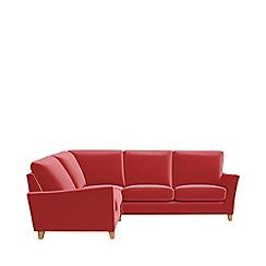 Debenhams - Amalfi velvet 'Abbeville' left-hand facing corner sofa end