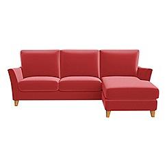 Debenhams - Amalfi velvet 'Abbeville' right-hand facing chaise corner sofa