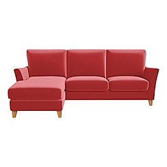 Debenhams - Amalfi velvet 'Abbeville' left-hand facing chaise corner sofa