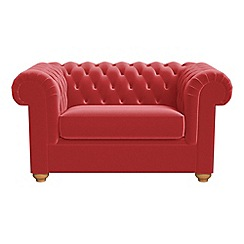 Debenhams - Amalfi velvet 'Chesterfield' loveseat