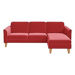 Debenhams - Amalfi velvet 'Carnaby' right-hand facing chaise corner sofa
