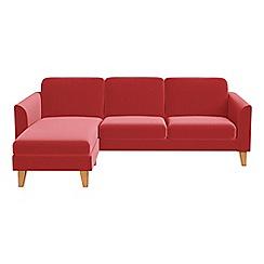 Debenhams - Amalfi velvet 'Carnaby' left-hand facing chaise corner sofa