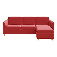 Debenhams - Amalfi velvet 'Carnaby' right-hand facing chaise corner sofa bed