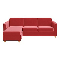 Debenhams - Amalfi velvet 'Carnaby' left-hand facing chaise corner sofa bed