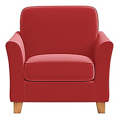 Debenhams - Amalfi velvet 'Broadway' armchair