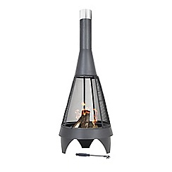 La Hacienda - Extra large black steel 'Colorado' chimenea