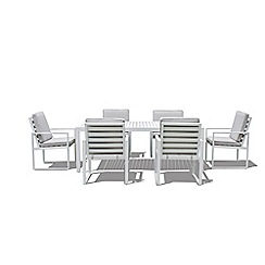 Debenhams - 'Rochelle' Dining table and 6 square chairs