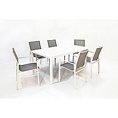 Debenhams - 'Rochelle' Dining table and 6 stacking chairs