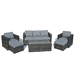 Debenhams - Grey 'LA' 3 seater 6 piece sofa set
