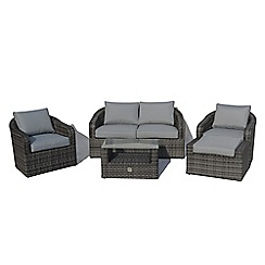 Debenhams - Grey 'LA' 2 seater 5 piece sofa set