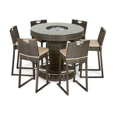 debenhams brown rattan effect 39 la 39 bar garden table with. Black Bedroom Furniture Sets. Home Design Ideas