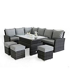 Debenhams - Grey rattan effect 'LA Kingston' corner garden dining unit