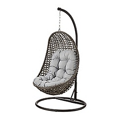Debenhams - Grey rattan effect 'LA Malibu' garden hanging chair