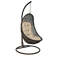 Debenhams - Brown rattan effect 'LA Malibu' garden hanging chair