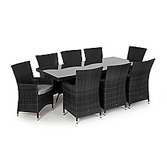 Debenhams - Grey rattan effect 'LA' rectangle table and 8 chairs