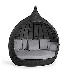 Debenhams - Grey rattan effect 'LA Peach' garden daybed