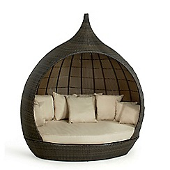 Debenhams - Brown rattan effect 'LA Pear' garden daybed