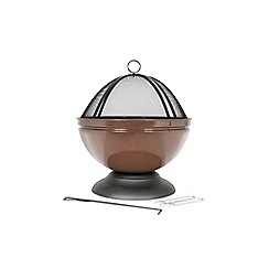 La Hacienda - Bronze globe firepit