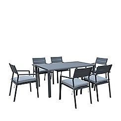 Debenhams - Grey 'Calais' Dining Table and 6 Chairs