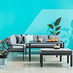 Debenhams - Large Grey 'Calais' Corner Sofa Set