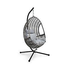 Debenhams - Grey 'Cane' Hanging Chair