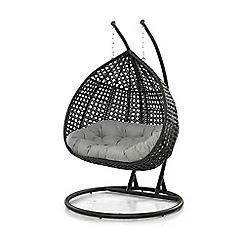 Debenhams - Grey 'LA Malibu' Double Hanging Chair