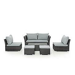 Debenhams - Grey Seville Sofa Set