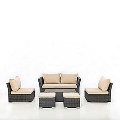 Debenhams - Brown 'Seville' Sofa Set
