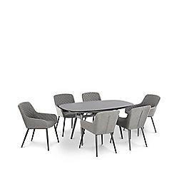 Debenhams - Grey 'Lavita' 6 Seater Dining Set