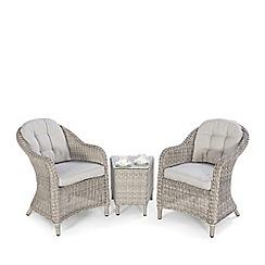 Debenhams - Grey 'Ontario' Lounge Table and 2 Chairs