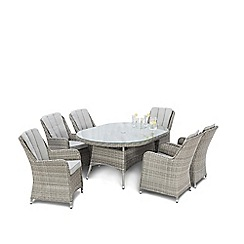 Debenhams - Brown 'Ontario' Oval Dining Table and 6 Chairs