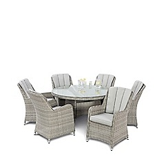 Debenhams - Brown 'Ontario' Dining Table and 6 Chairs