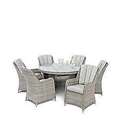 Debenhams - Grey 'Ontario' Dining Table and 6 Chairs