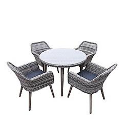Debenhams - Grey 'Palmira' Dining Table and 4 Chairs