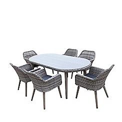 Debenhams - Grey 'Palmira' Dining Table and 6 Chairs