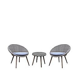 Debenhams - Grey 'Palmira' Bistro Table and 2 Chairs
