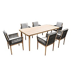 Debenhams - Brown 'Pascal' Dining Table and 6 Chairs