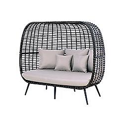 Debenhams - Brown 'Riviera' Double Cushion Chair