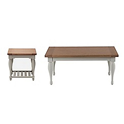 Willis & Gambier - Oak and painted 'Worcester' coffee and side table set
