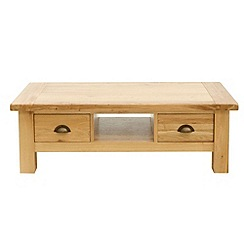 Willis & Gambier - Oak 'Normandy' coffee table with 2 drawers