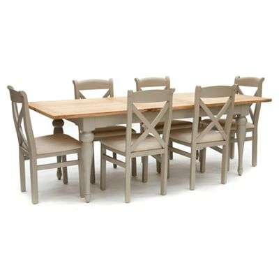 Willis Amp Gambier White Washed Oak And Painted Worcester Large Extending Table And 6 Chairs
