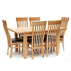Willis & Gambier - Ash 'Denver' medium extending table and 6 chairs