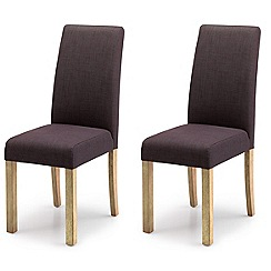 Willis & Gambier - Pair of grey 'Harlequin' upholstered dining chairs