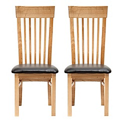 Willis & Gambier - Pair of ash 'Denver' dining chairs with dark brown seats